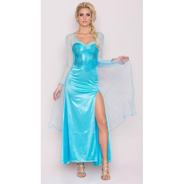 Yandy Frost Queen Costume, Sequin Blue Dress Halloween Costume ...