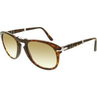 Persol Men's PO0714-24/51-54 Brown Oval Sunglasses