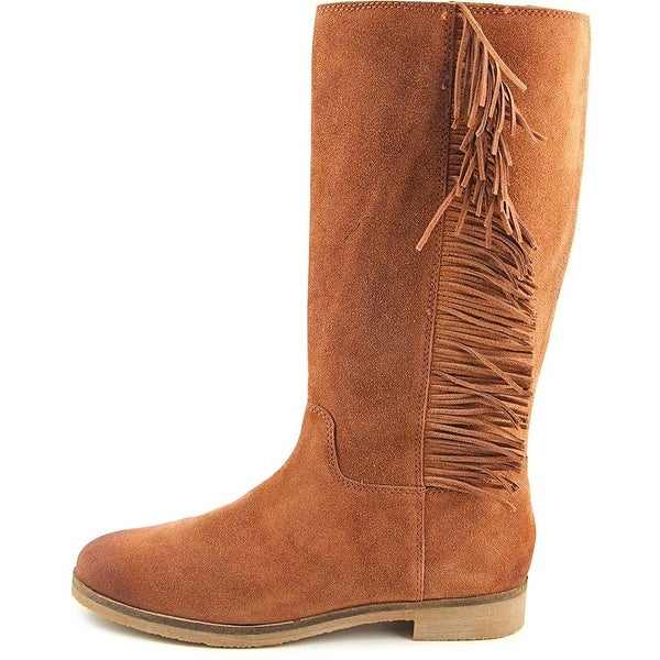 Lucky Brand Womens Grayer Leather Almond Toe Mid-Calf Fashion Boots