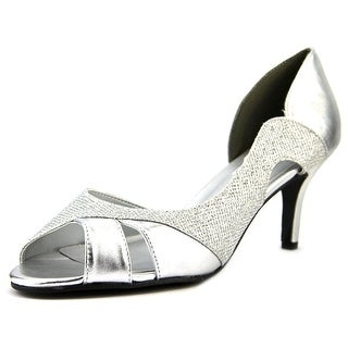 Touch Ups Charlie Women Open-Toe Synthetic Silver Heels