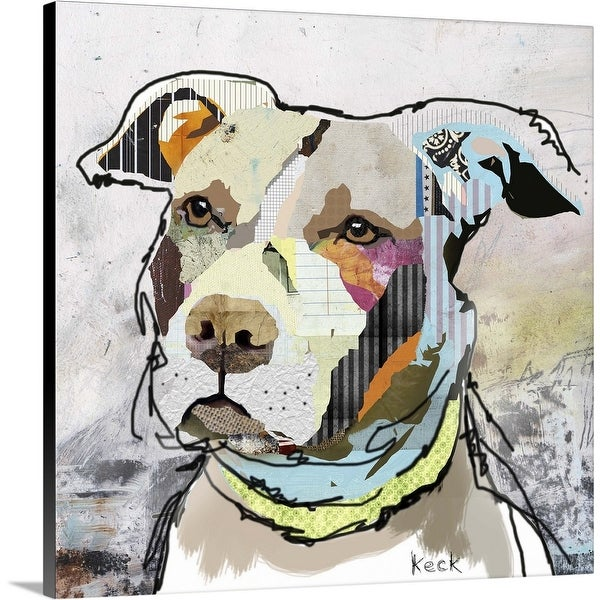 """""""American Staffordshire Terrier Puppy 2"""" Canvas Wall Art"""