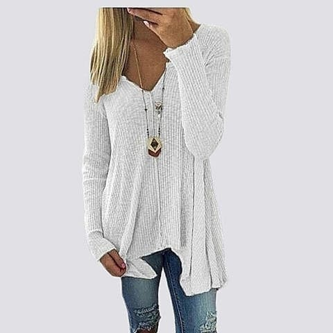 Henley Pullover Knitted Sweater