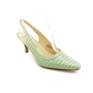 Karen Scott Benedict Women Pointed Toe Synthetic Green Slingback Heel