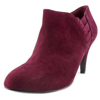 Style & Co Arianah Women Round Toe Canvas Burgundy Bootie