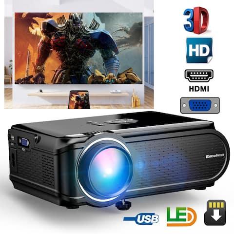Excelvan Portable Mini LED Multimedia Projector 800*480 Support 1080p ATV
