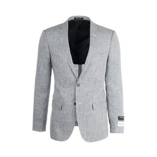 Sienna Black and White Houndstooth Pattern, Slim Fit Linen Jacket by Tiglio Luxe 101396