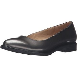Naturalizer Womens Bengol Closed Toe Slide Flats