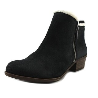 Lucky Brand Basel 4 Women Round Toe Synthetic Black Bootie