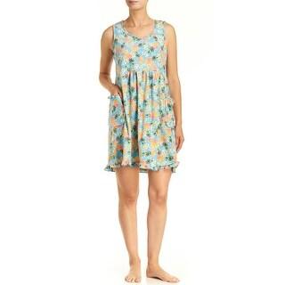 Rene Rofe Women's Pillow Talk Pineapple Terry Lounge Dress