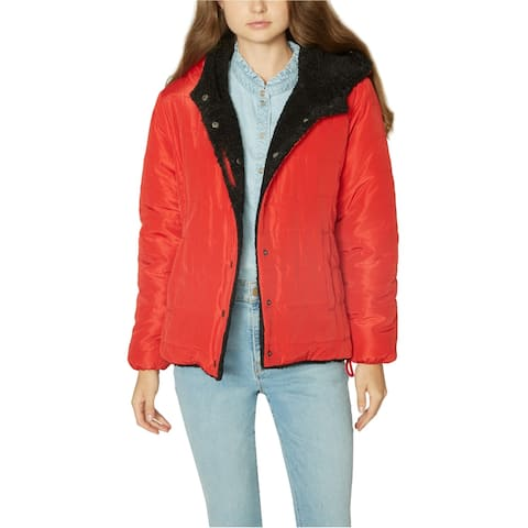 Sanctuary Clothing Womens Reversible Puffer Jacket, red, Medium
