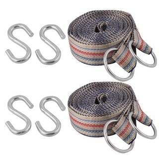 Camping Aluminium Alloy Hook Nylon Leisure Lifting Rope Multi Color 2 PCS