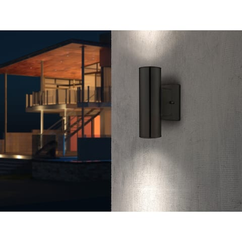 Eglo Riga 2-light Matte Black Wall Sconce