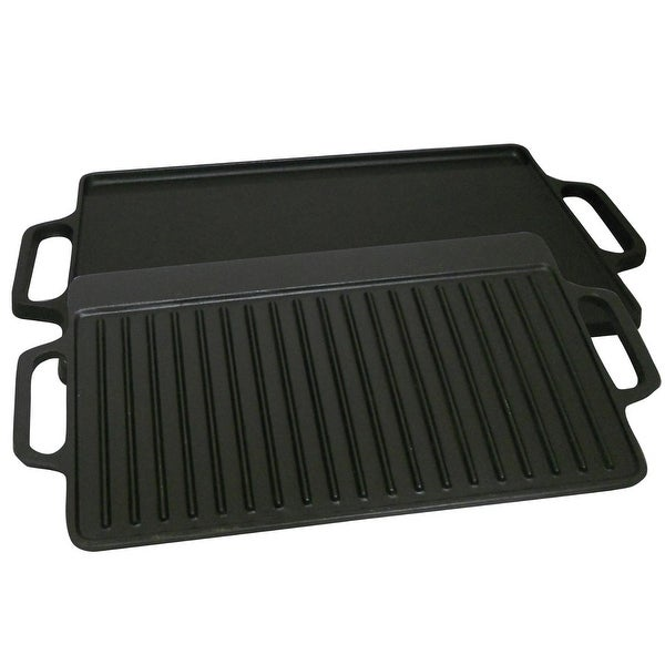 "King Kooker CI21GS Cast Iron 2 Sided Griddle, 9"" x 21"""