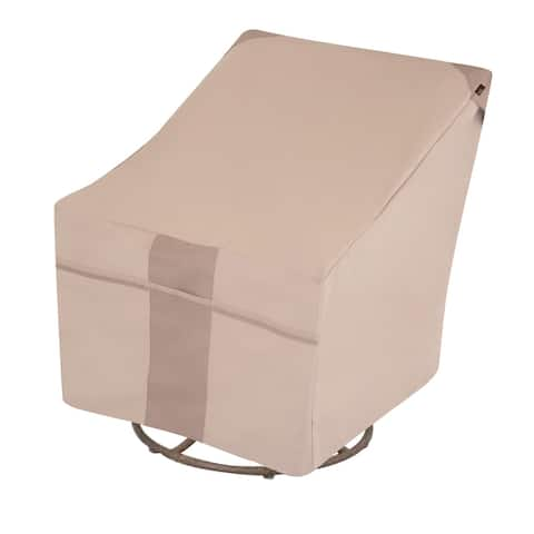 "Modern Leisure Monterey Outdoor Patio Swivel Lounge Chair Cover, 37.5"" W x 39.25"" D x 38.5"" H, Beige, Model 2972"