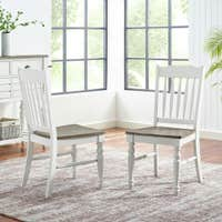The Gray Barn Gustine Two-tone Farmhouse Side Chair - Set of 2