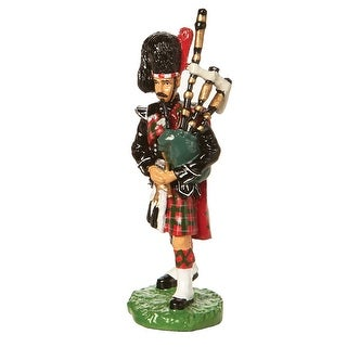 Iconic British Figurines: British Bobby, Beefeater, And Bagpiper Statue - Bagpiper - multicolor