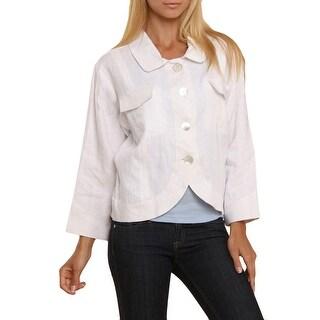Two Wishes Womens Jenny Slub Bracelet Sleeve Basic Jacket - S