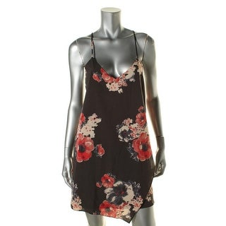 Free People Womens Slip Dress Chiffon Floral Print