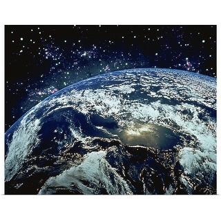 """""""Earth from Space"""" Poster Print"""