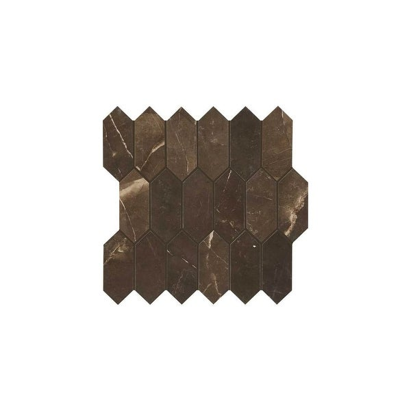 Daltile Ma825hexmsmtp Marble Attache 5 X 2 Linear Hexagon Mosaic Multi Surface