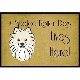 Carolines Treasures BB1455JMAT Pomeranian Spoiled Dog Lives Here Indoor & Outdoor Mat 24 x 36 in.
