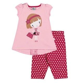 Toddler Girl Outfit T-Shirt and Capri Leggings Set Pulla Bulla Sizes 1-3 Years