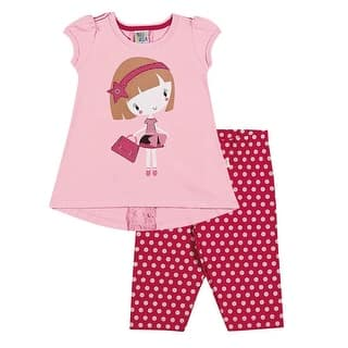 Toddler Girl Outfit T-Shirt and Capri Leggings Set Pulla Bulla Sizes 1-3 Years https://ak1.ostkcdn.com/images/products/is/images/direct/f8bc115052092c7d9d9f9d8f8fa65c829d501171/Pulla-Bulla-Toddler-girl-shirt-and-leggings-outfit-ages-1-3-years.jpg?impolicy=medium