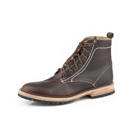 Stetson Western Boots Mens Leather Chukka Brown