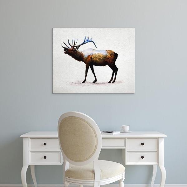 Easy Art Prints Davies Babies's 'Rocky Mountain Elk' Premium Canvas Art
