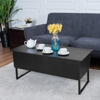 Costway Coffee Table Lift Top Home Living Room Wood Storage Furniture Hidden space