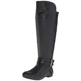 Fergalicious Womens Rodeo Wide Calf Faux Leather Knee-High Boots - 7 medium (b,m)