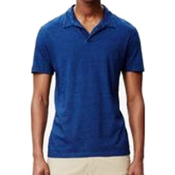 6be179cd Shop Theory NEW Blue Mens Size Large L Short-Sleeve Stretch Henley Shirt -  Free Shipping On Orders Over $45 - Overstock - 20682939