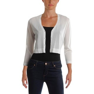 Lauren Ralph Lauren Womens Petites Shrug Sweater Matte Jersey Button Down (3 options available)