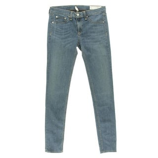 Rag & Bone Womens Skinny Jeans Denim Solid