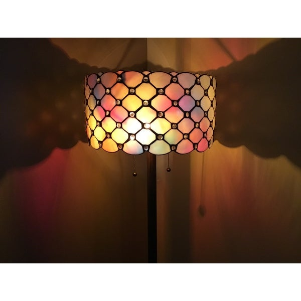 Tiffany-style Jeweled Floor Lamp - Free Shipping Today - Overstock ...