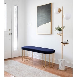 Link to Silver Orchid Wray Glam Dining / Entryway Bench Similar Items in Living Room Furniture