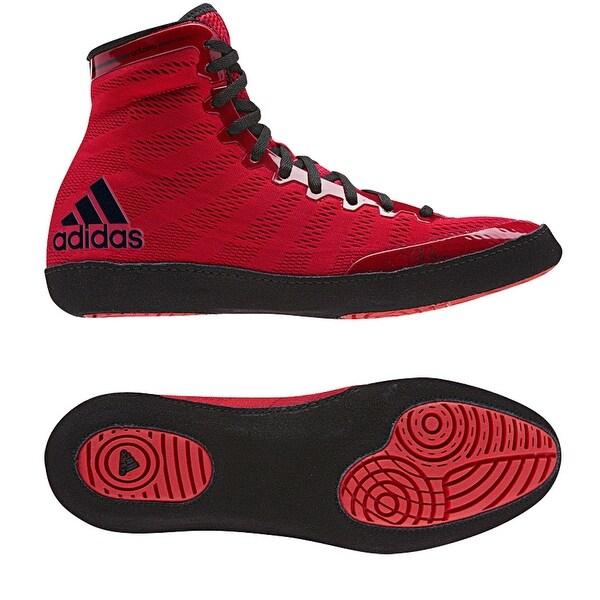 Adidas adiZero Varner High Top Wrestling Shoes - Red/Black