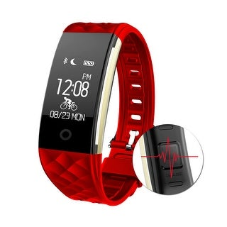 Image IP67 Waterproof Touch Screen Fitness Tracker Music Control Heart Rate Sleep Monitor Wrist Band - SIZE