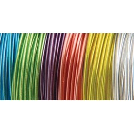 Translucent - 24 Gauge; 6/Pkg - Plastic Coated Fun Wire Value Pack 9' Coils