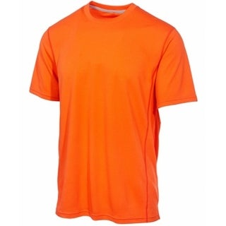 Ideology NEW Orange Men Medium M Textured Shirts & Tops Athletic Apparel