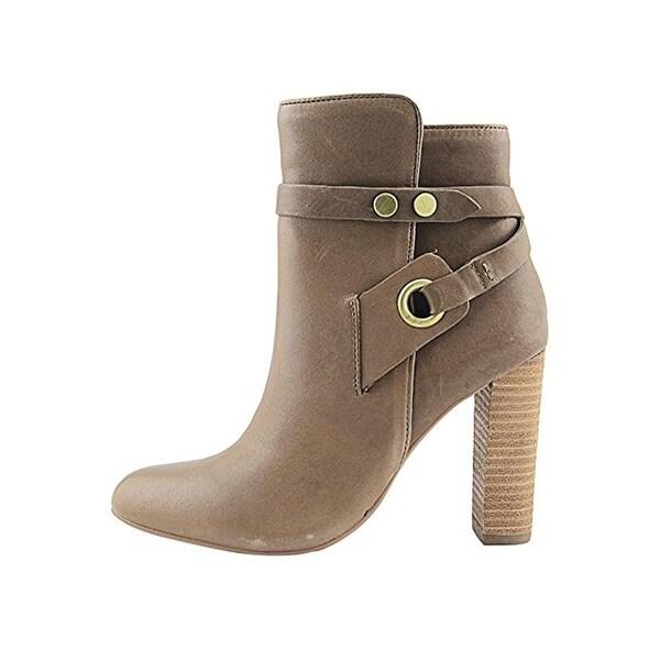 Design Lab Womens Shea Block Heel Boot Ankle Close Toe