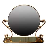 Table Mirror Cast Brass Magnifying Make Up 2- Sided Swivel | Renovator's Supply