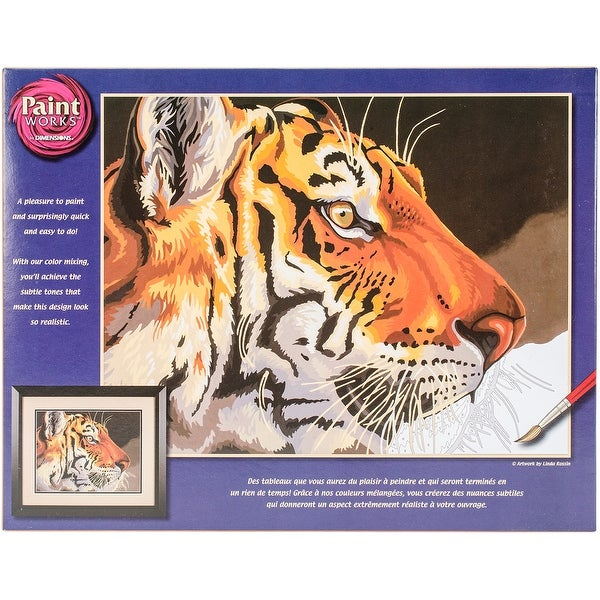 "Paint Works Paint By Number Kit 14""X11""-Regal Tiger"