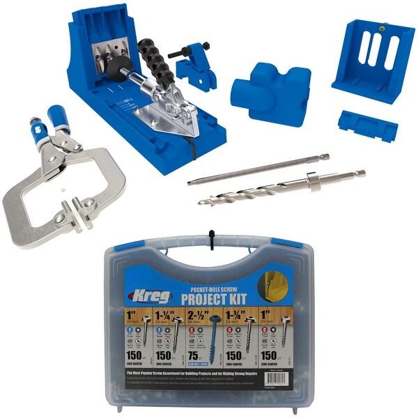 Shop kreg jig k4 master system and pocket hole screw project kit in kreg jig k4 master system and pocket hole screw project kit in 5 sizes solutioingenieria Image collections