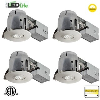 """Globe Electric 90735 LED Integrated 4"""" Recessed Lighting Kit - Pack of 4"""