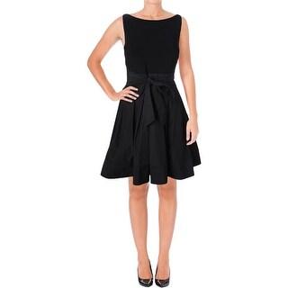 Lauren Ralph Lauren Womens Special Occasion Dress Pleated Knee-Length