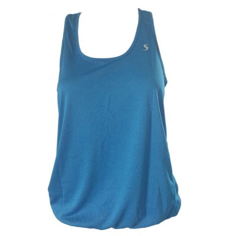 Loose Fit Yoga Tank Top - Solid Blue