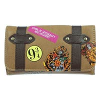 Harry Potter Hogwarts School Trunk Inspired Snap Closure Trifold Wallet - One Size Fits most