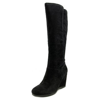 Nine West Vienneo Women Round Toe Suede Black Knee High Boot