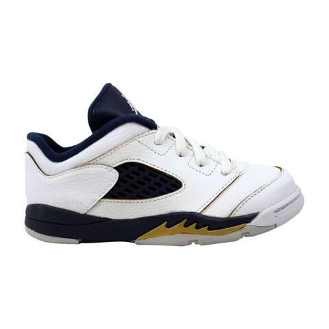 new arrival 8dcb4 cfcc1 Nike Air Jordan V 5 Retro Low TD White Midnight Navy-Metallic Gold Dunk